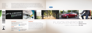 2017 Ford Fusion Energi Quick Reference Guide Free Download