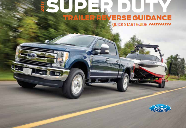 2017 Ford Super Duty Trailer Reverse Guidance Quick Start Guide Free Download