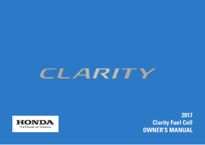 2017 Honda Clarity Fuel Cell Owners Manual Free Download