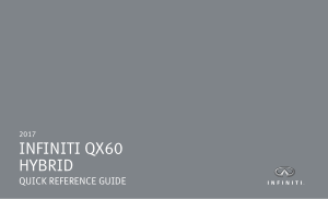 2017 Infiniti Usa qx60 Hybrid Quick Reference Guide Free Download