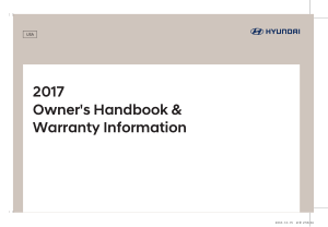 2017 My Hyundai All Models Warranty Handbook Free Download