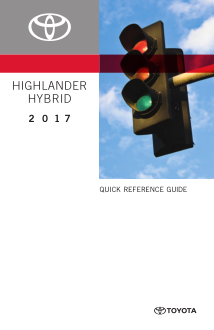 2017 Toyota Highlander Hybrid Quick Reference Guide Free Download