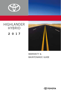 2017 Toyota Highlander Hybrid Warranty And Maintenance Guide Free Download