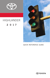 2017 Toyota Highlander Quick Reference Guide Free Download