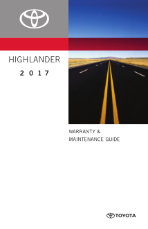 2017 Toyota Highlander Warranty And Maintenance Guide Free Download