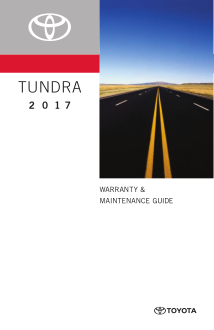 2017 Toyota Tundra Warranty And Maintenance Guide Free Download