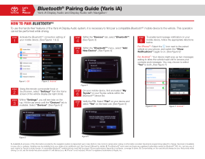 2017 Toyota Yaris Ia Bluetooth Pairing Guide Display Audio With Navigation Free Download
