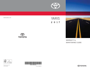 2017 Toyota Yaris Warranty And Maintenance Guide Free Download