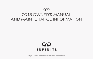 2018 Infiniti Q50 Owner Manual And Maintenance Info