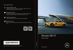 2018 Mercedes Benz GT Coupe Operator Manual