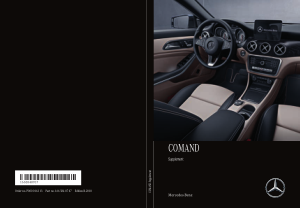 2018 Mercedes Benz SLC COMAND Operator Instruction Manual