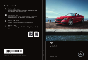 2018 Mercedes Benz SLC Operator Manual