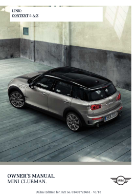 2018 Mini USA CLUBMAN Owners Manual