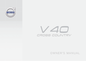 2018 Volvo V40 Cross Country Owners Manual