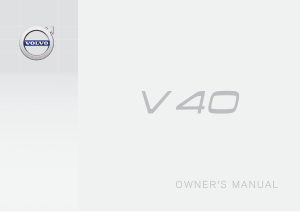 2018 Volvo V40 Owners Manual