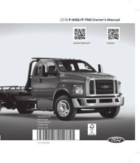 2018 Ford f-650 Owners Manual Free Download