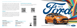 2018 Ford Fiesta Quick Reference Guide Free Download