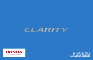 2018 Honda Clarity Fuel Cell Navigation Manual Free Download