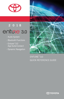 2018 Toyota Camry Entune 3 Quick Reference Guide Free Download