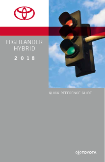 2018 Toyota Highlander Hybrid Quick Reference Guide Free Download