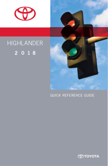 2018 Toyota Highlander Quick Reference Guide Free Download