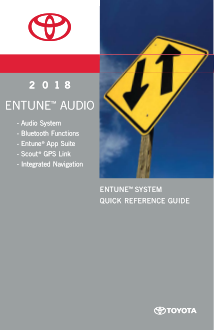 2018 Toyota Sequoia Entune System Quick Reference Guide Free Download