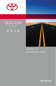 2018 Toyota Sequoia Flexible Fuel Vehicle Warranty And Maintenance Guide Free Download