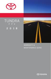2018 Toyota Tundra Flexible Fuel Vehicle Warranty And Maintenance Guide Free Download