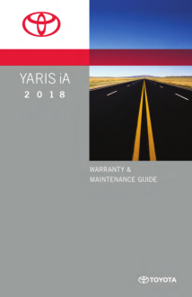 2018 Toyota Yaris Ia Warranty And Maintenance Guide Free Download