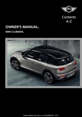 2019 Mini USA CLUBMAN Owners Manual
