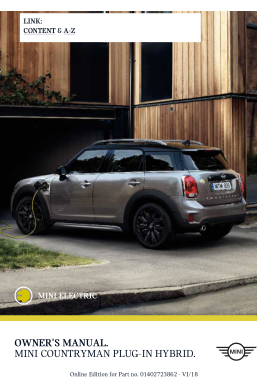 2019 Mini USA COUNTRYMAN Paceman Owners Manual