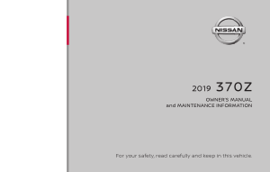 2019 Nissan Z COUPE Owner Manual