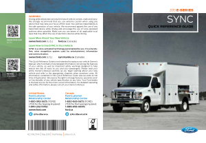 2019 Ford e-450 Sync Quick Reference Guide Free Download