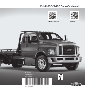 2019 Ford f-650 750 Owner Manual Free Download
