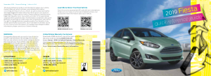 2019 Ford Fiesta Quick Reference Guide Free Download