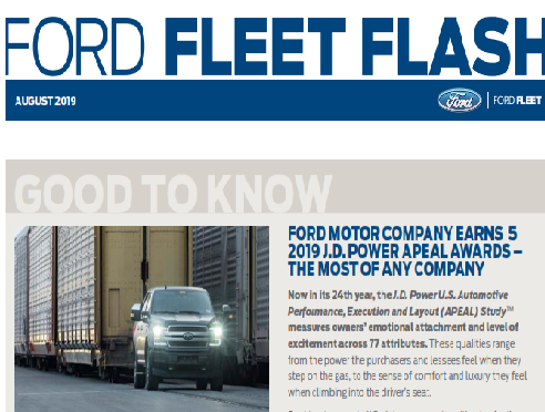2019 Ford Fleet Flash August Free Download