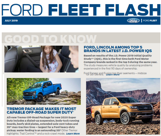 2019 Ford Fleet Flash July Free Download