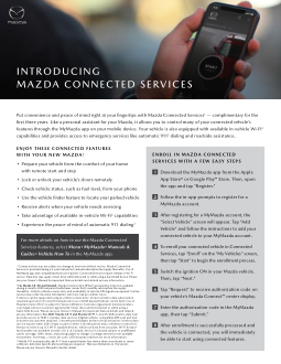 2019 Mazda Connect Services Enrollment Free Download