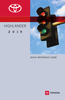 2019 Toyota Highlander Quick Reference Guide Free Download