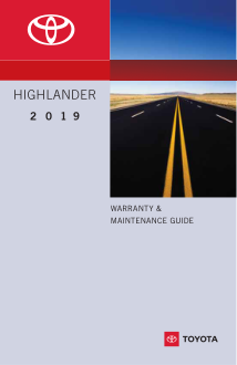 2019 Toyota Highlander Warranty And Maintenance Guide Free Download