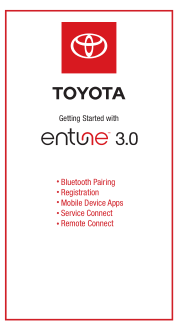 2019 Toyota Mirai Entune 3.0 Getting Started Guide Free Download