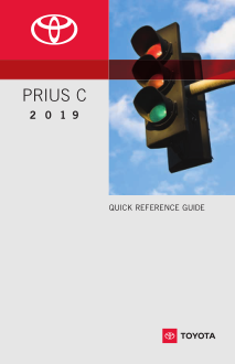 2019 Toyota Prius C Quick Reference Guide Free Download