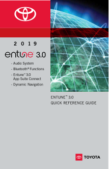 2019 Toyota rav4 Entune 3.0 System Quick Reference Guide Free Download