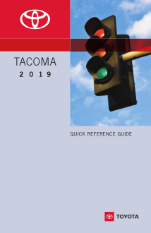2019 Toyota Tacoma Quick Reference Guide Free Download