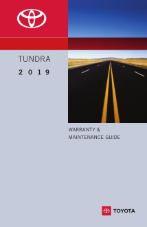 2019 Toyota Tundra Warranty And Maintenance Guide Free Download