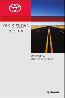 2019 Toyota Yaris Warranty And Maintenance Guide Free Download