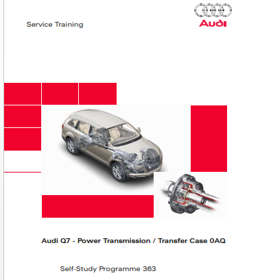 2020 Audi q7 Power Transmission Self Study Programme Service Manual Free Download