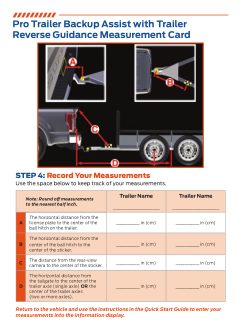 2020 Ford f-450 Pro Trailer Backup Assist With Trailer Reverse Guidance Measurement Card Free Download