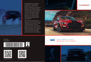 2020 Ford Mustang Shelby gt500 Supplement Free Download