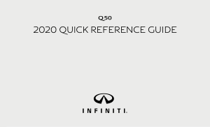 2020 Infiniti Usa q50 Quick Reference Guide Free Download